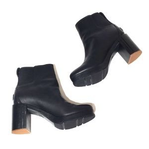Sorel Blake Block-Heel Leather Chelsea Boots 8.5